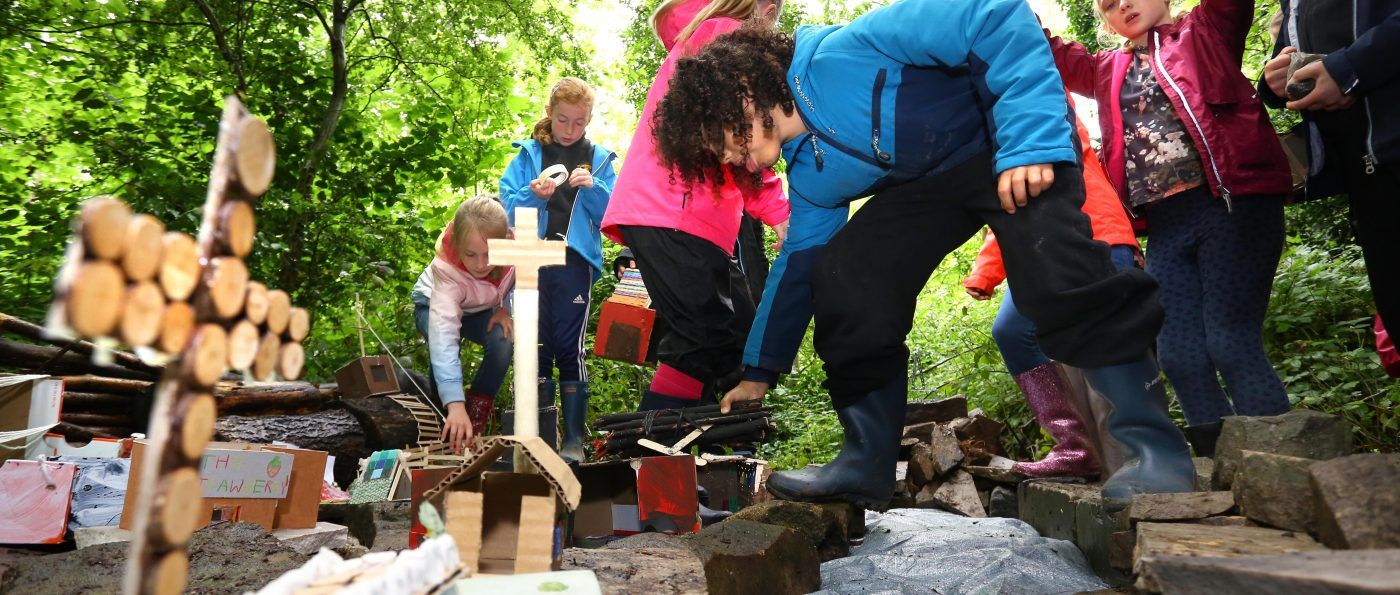 Children at a Sill forest school session