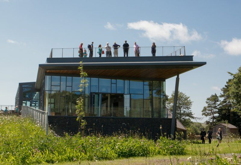 Visitors on the roof of The Sill: National Landscape Discovery Centre