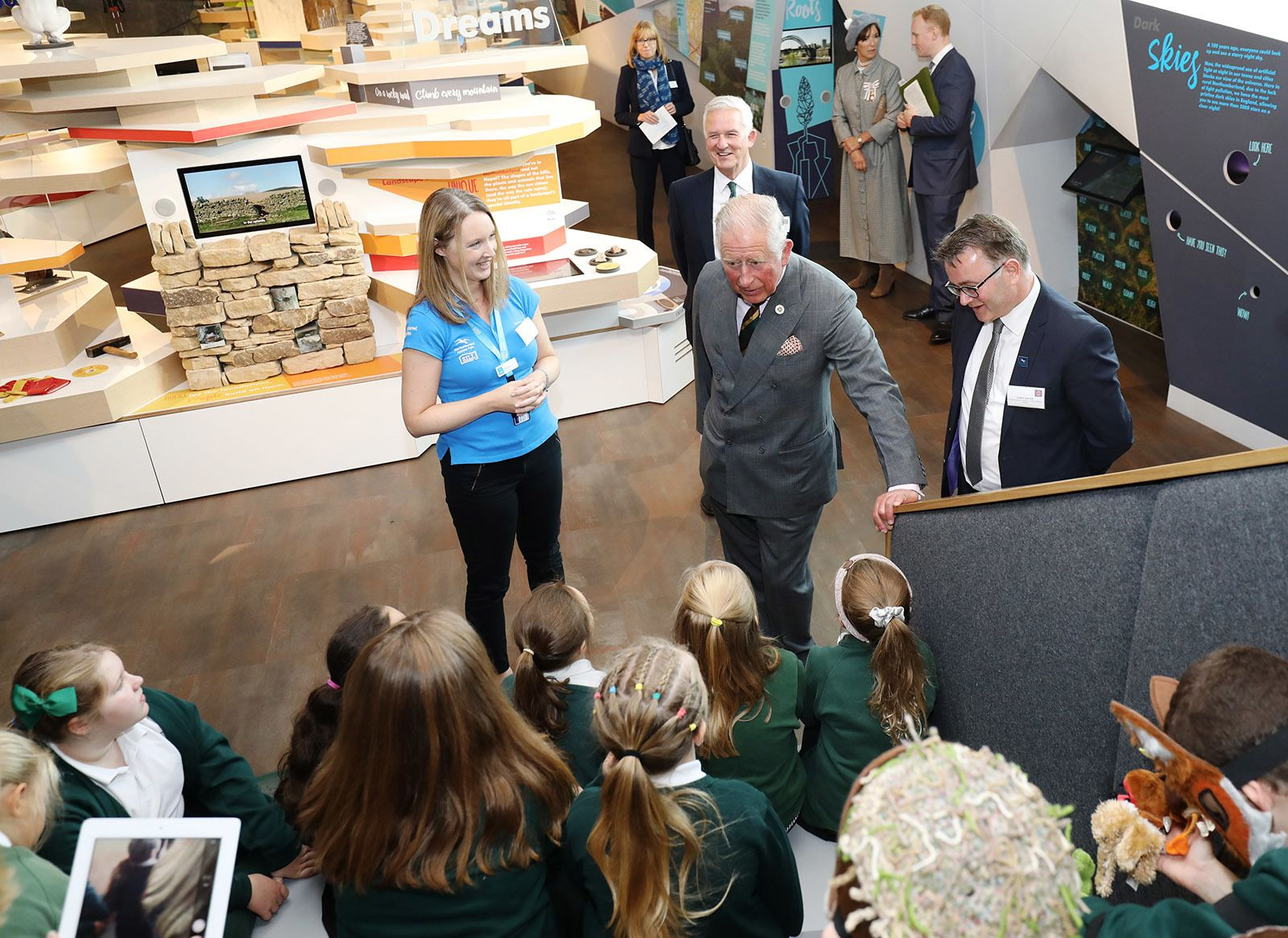 Rachel Baron, HRH Prince of Wales and children at Sill