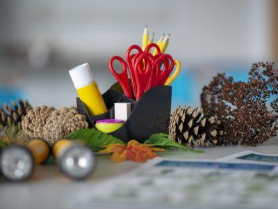 A collection of arts and crafts materials