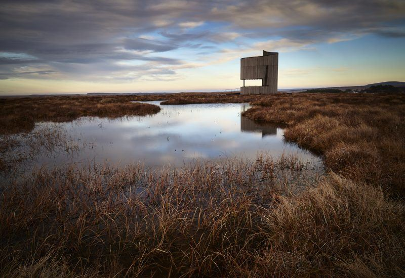 The RSPBs Flows Lookout Tower at Forsinard in the heart of the Flow Country Kevin Arrowsmith