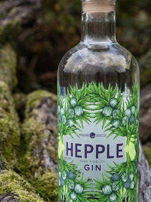 a bottle of hepple gin