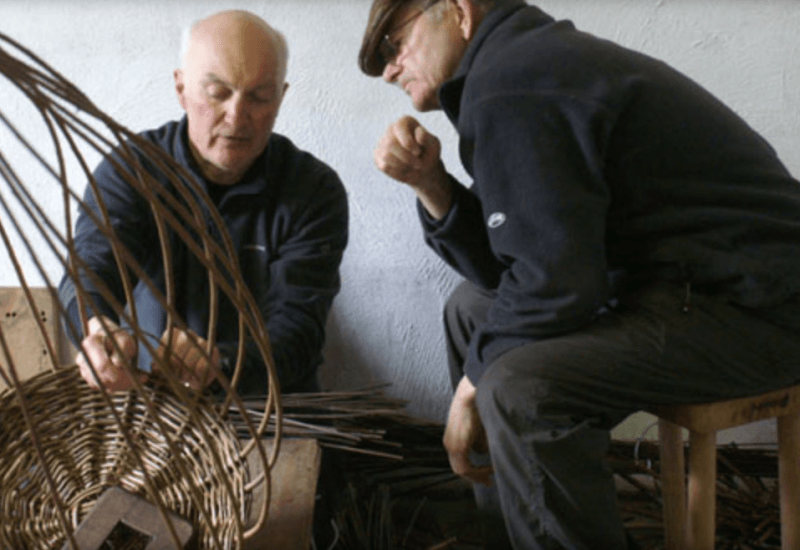 basket weavers at work