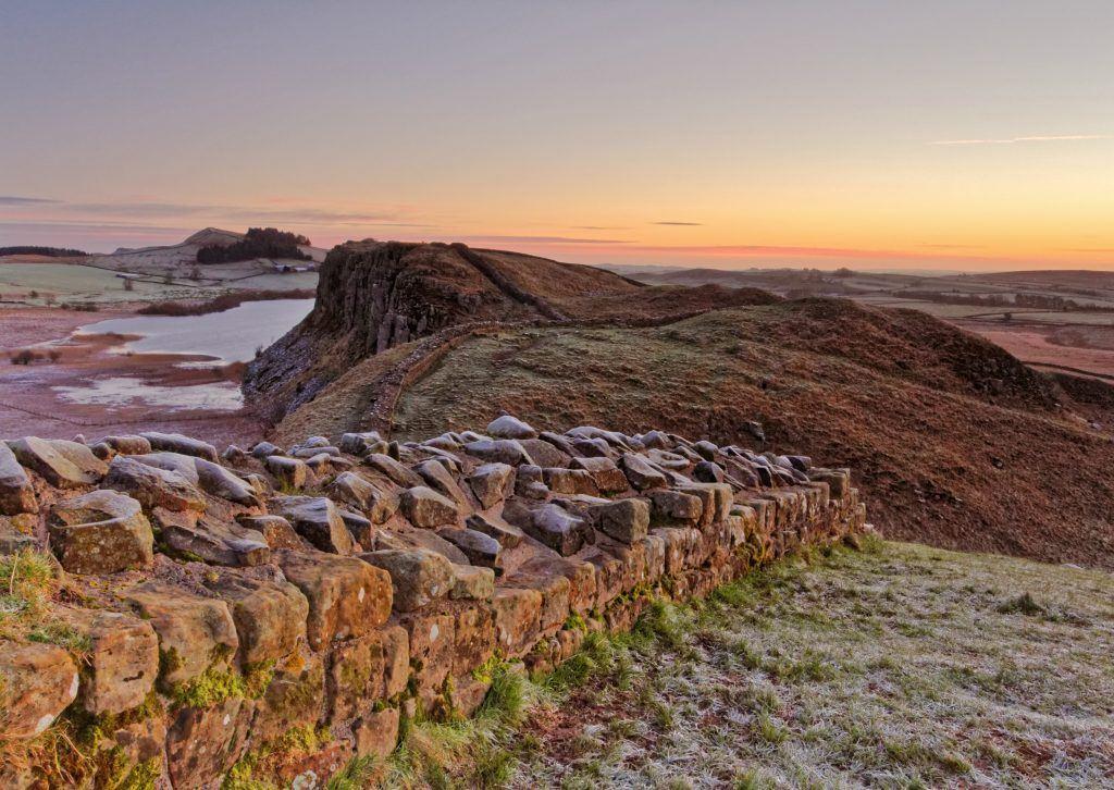 Dawn over Crag Lough by Kit Saddington