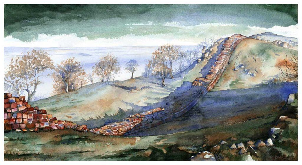 Hadrian's Wall landscape painting by David Holliday