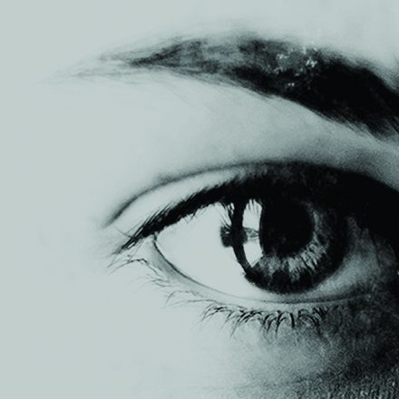 a close up of a young girls eye taken from the poster for Haunted