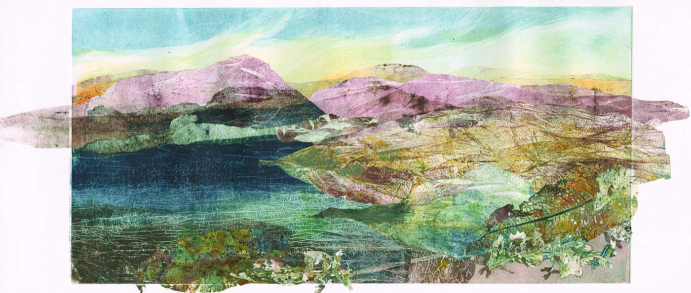landscape painting by adele burdon on display in the Inspired By Our Land exhibition