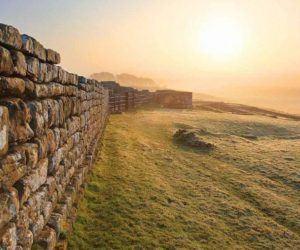 Hadrian's Wall at sunrise