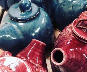 handmade teapots from Muddy Fingers Pottery