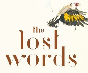 Lost Words logo and an illustration of a Goldfinch © Jackie Morris