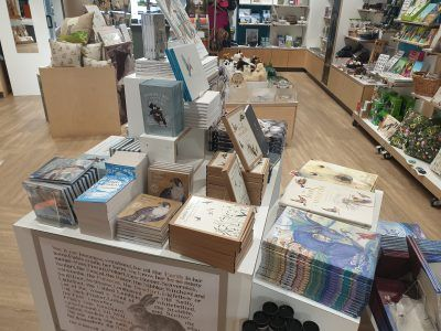 A display of products from the Lost Words Exhibition in The Sill shop.