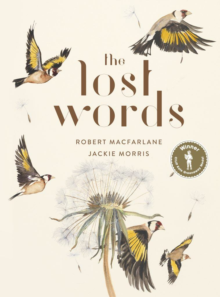 The front cover of The Lost Words book
