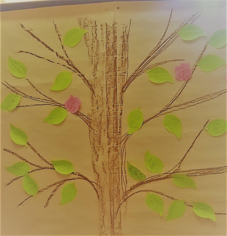 A hand drawn tree