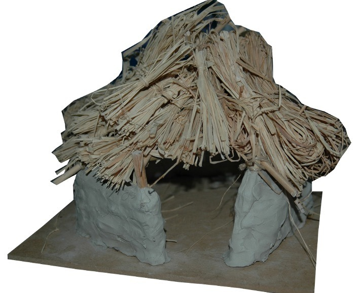 A model of a bronze age roundhouse
