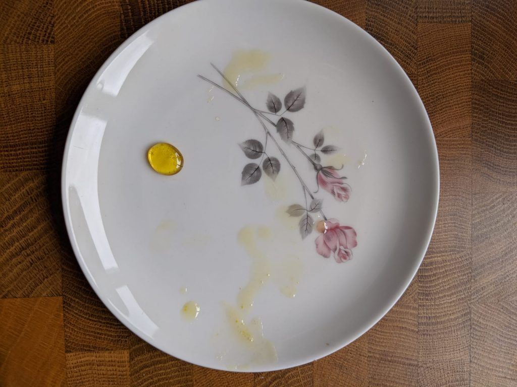 honey made from dandelions on a plate
