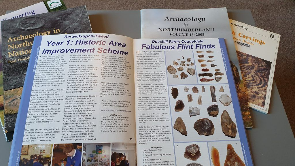 A collection of archaeology books