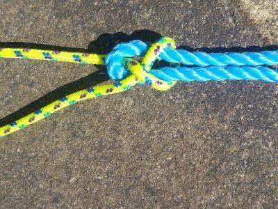 A sheet bend knot