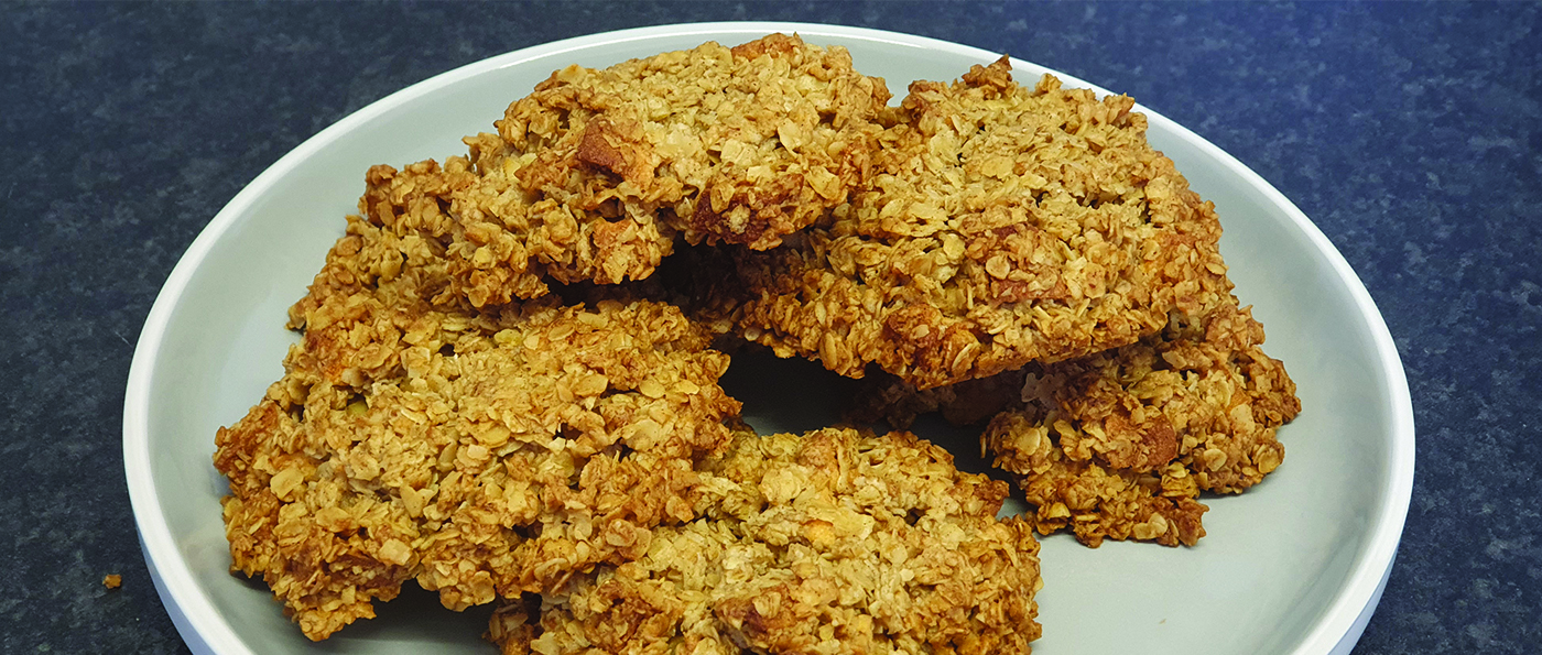 Oat and Honey Cakes on a plate