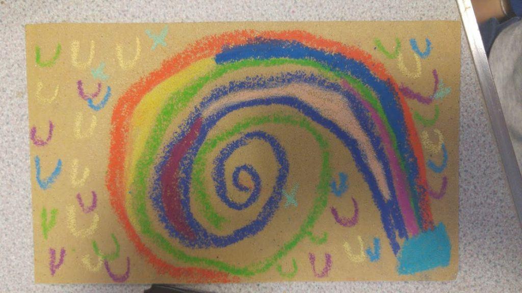 A childs illustration of rock art