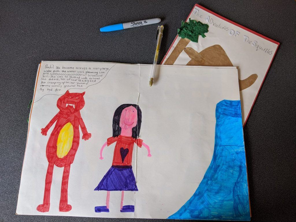 Children's illustrations in handmade Journals