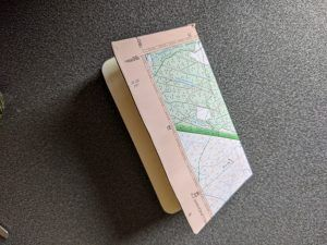 A small map covered journal