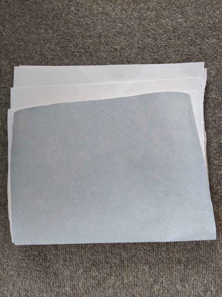 Sheets of paper folded together