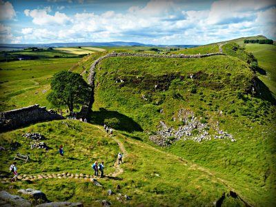 A view of Sycamore Gap on Hadrian's Wall