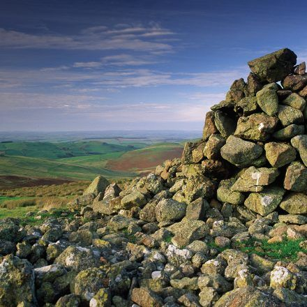 Burial cairn in the Cheviot Hills