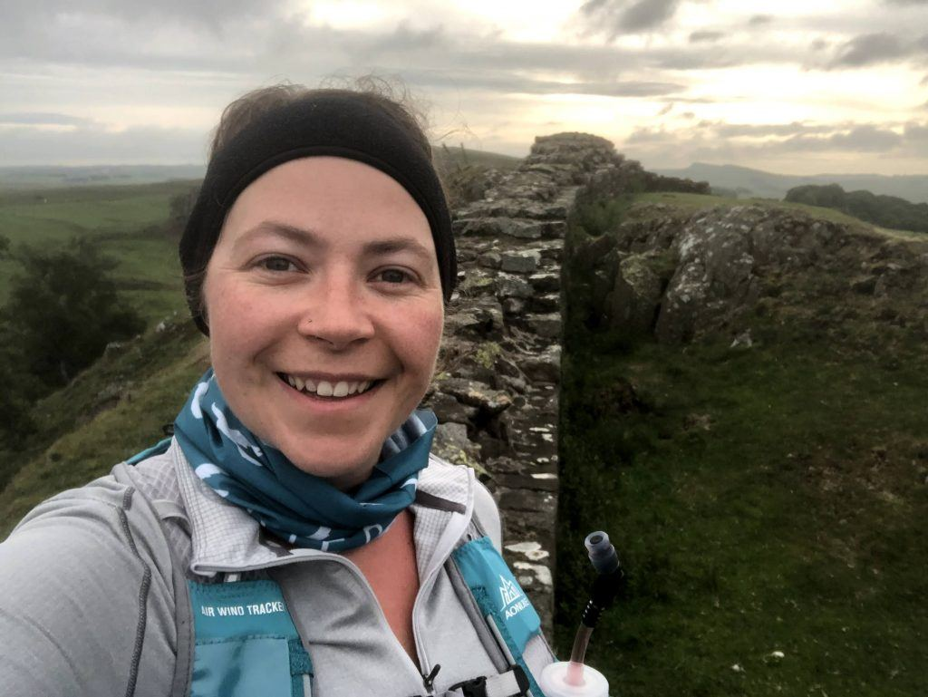 Activities Support Officer Clare on the Hadrian's Wall Path
