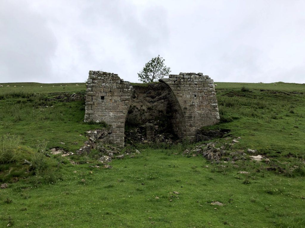 A lime kiln on the Hadrian's Wall path