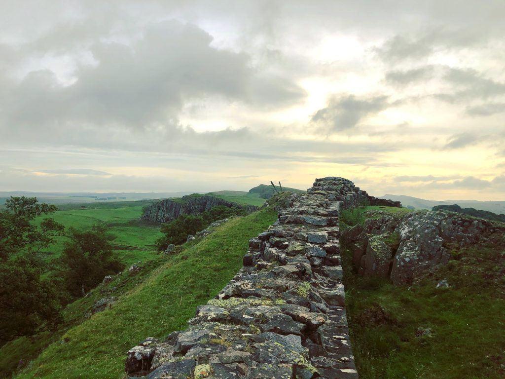 Hadrian's Wall on a cloudy day