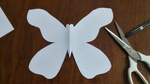 A cut out of a butterfly