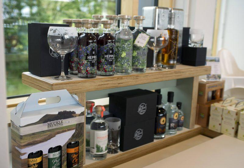 a selection of products for sale in the Once Brewed Cafe