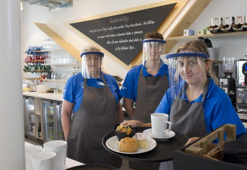 Staff of the Once Brewed Cafe
