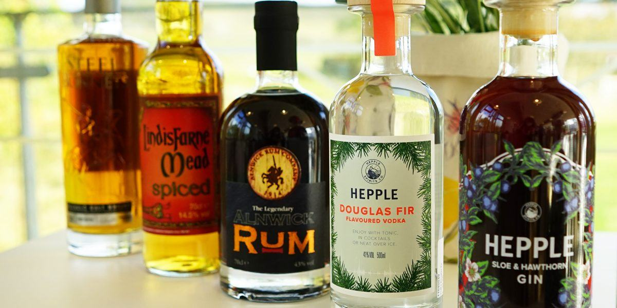 A range of spirits available in the Sill Shop