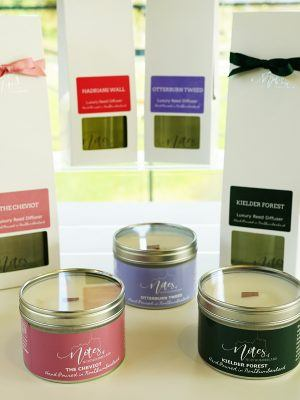 Candles and aroma diffusers from Notes of Northumberland