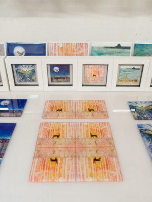 Glass coasters by Carol Nunan