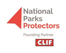 A logo for the National Parks Protectors Founding Partner Clif Bar