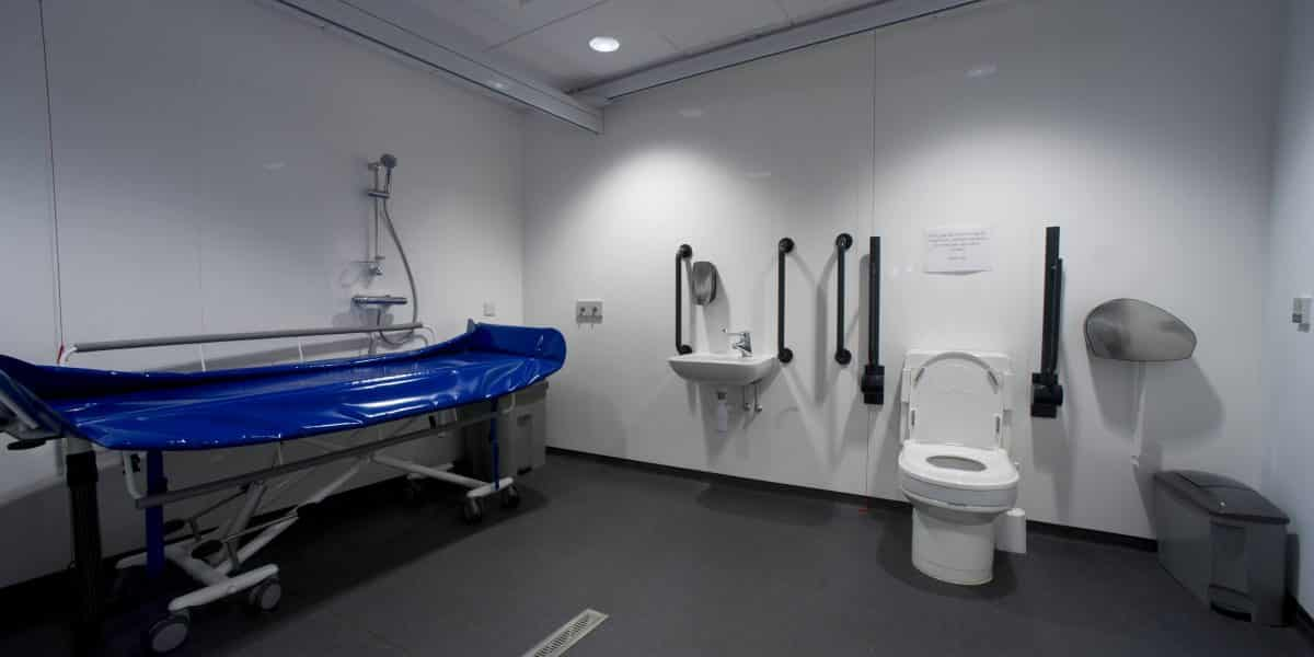 The interior of the accessible Changing Places Toilet at The Sill.
