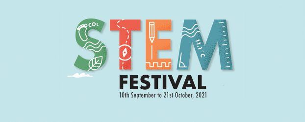 Colourful text reads STEM Festival 10th September to 21st October