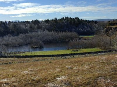 A winters view over Walltown Quarry Country Park